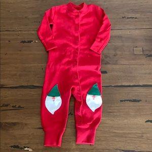 Hanna Andersson Christmas footless onesie